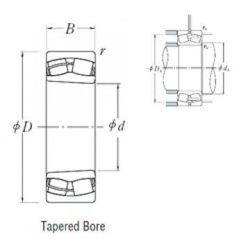 100 mm x 165 mm x 52 mm  NSK 23120CKE4 spherical roller bearings
