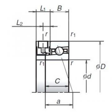 45 mm x 68 mm x 12 mm  NSK 45BER19XE angular contact ball bearings