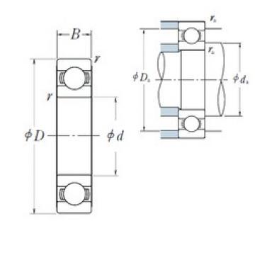 710 mm x 950 mm x 106 mm  NSK 69/710 deep groove ball bearings