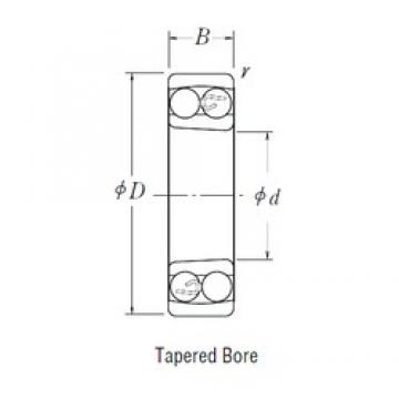 90 mm x 160 mm x 30 mm  NSK 1218 K self aligning ball bearings