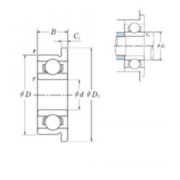 1,191 mm x 3,967 mm x 1,588 mm  NSK FR 0 deep groove ball bearings