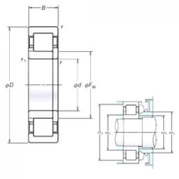 130 mm x 230 mm x 64 mm  NSK NUP2226EM cylindrical roller bearings