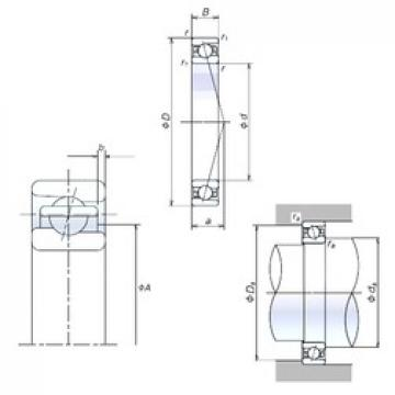 90 mm x 125 mm x 18 mm  NSK 90BER19X angular contact ball bearings