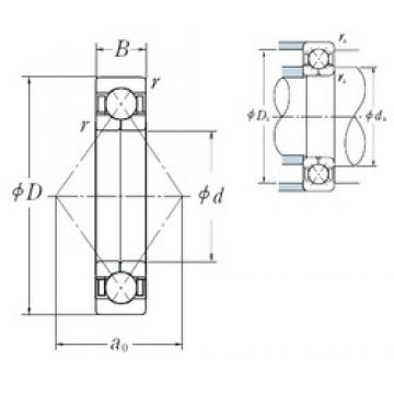 55 mm x 120 mm x 29 mm  NSK QJ311 angular contact ball bearings