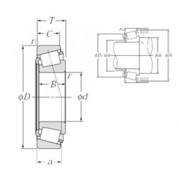 38,1 mm x 88,5 mm x 29,083 mm  NTN 4T-418/414 tapered roller bearings