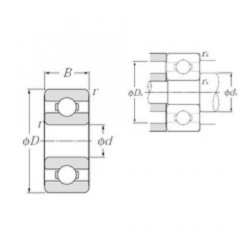 2,5 mm x 7 mm x 2,5 mm  NTN 69/2,5 deep groove ball bearings