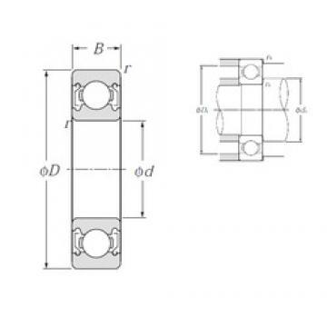 85 mm x 120 mm x 18 mm  NTN 6917ZZ deep groove ball bearings