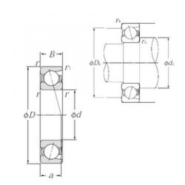 95 mm x 200 mm x 45 mm  NTN 7319 angular contact ball bearings