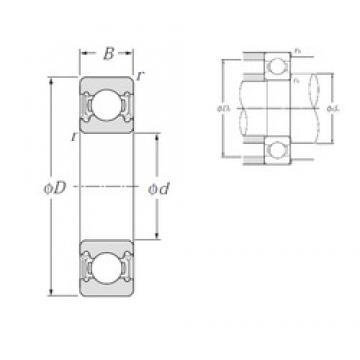 85 mm x 150 mm x 28 mm  NTN 6217LLU deep groove ball bearings