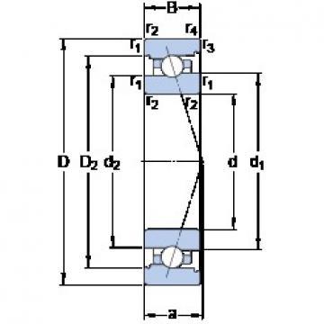 55 mm x 80 mm x 13 mm  SKF 71911 ACB/HCP4A angular contact ball bearings