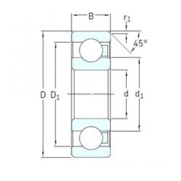 15 mm x 35 mm x 11 mm  SKF 6202/HR22T2 deep groove ball bearings