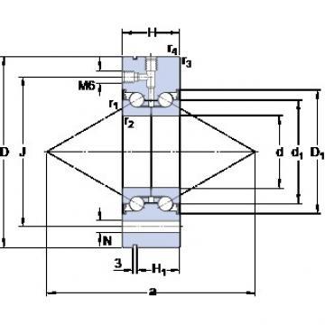 SKF BEAM 030100-2RS thrust ball bearings