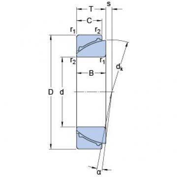 80 mm x 125 mm x 29 mm  SKF GAC 80 F plain bearings