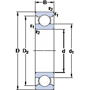 55 mm x 120 mm x 29 mm  SKF 6311/HC5C3 deep groove ball bearings