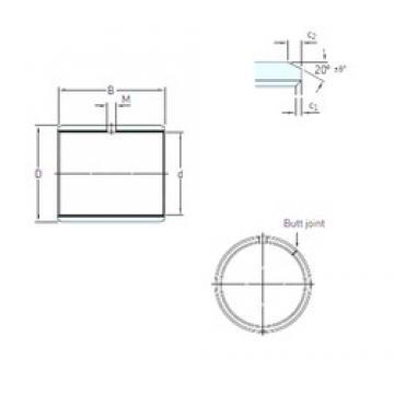 50 mm x 55 mm x 30 mm  SKF PCM 505530 M plain bearings