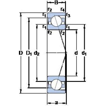 70 mm x 125 mm x 24 mm  SKF 7214 ACD/HCP4A angular contact ball bearings