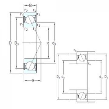 90 mm x 160 mm x 30 mm  SKF S7218 ACD/P4A angular contact ball bearings