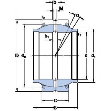 114.3 mm x 177.8 mm x 171.45 mm  SKF GEZM 408 ES-2RS plain bearings