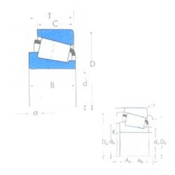 KOYO T5ED045 tapered roller bearings