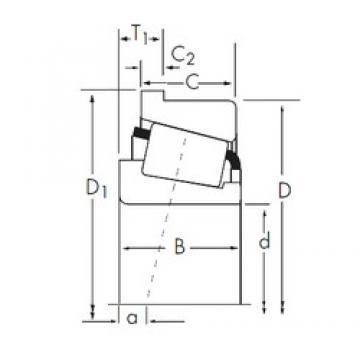53,975 mm x 127 mm x 52,388 mm  Timken 6280/6220-B tapered roller bearings