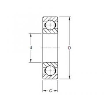 28,575 mm x 53,975 mm x 9,52 mm  Timken S11K deep groove ball bearings