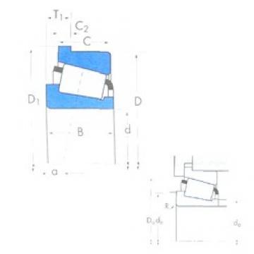 596,9 mm x 685,8 mm x 31,75 mm  Timken 680235/680270B tapered roller bearings