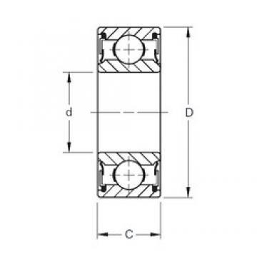 35 mm x 80 mm x 34,92 mm  Timken W307PP deep groove ball bearings