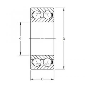 15 mm x 35 mm x 15,88 mm  Timken 5202K angular contact ball bearings