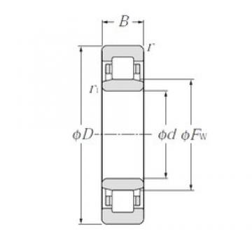 95 mm x 170 mm x 32 mm  NTN NU219E cylindrical roller bearings