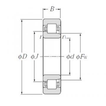 30 mm x 55 mm x 13 mm  NTN NJ1006 cylindrical roller bearings