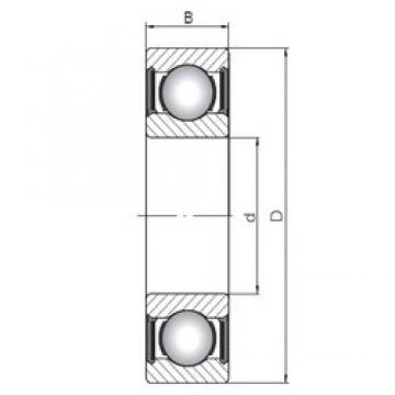 70 mm x 90 mm x 10 mm  ISO 61814-2RS deep groove ball bearings
