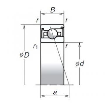 70 mm x 100 mm x 19 mm  NSK 70BER29SV1V angular contact ball bearings