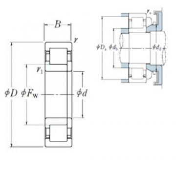 40 mm x 110 mm x 27 mm  NSK NUP 408 cylindrical roller bearings