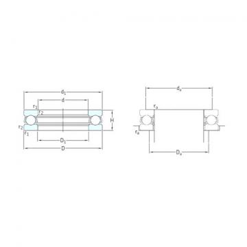 SKF 51156M thrust ball bearings