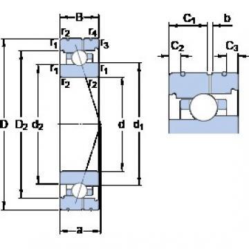 100 mm x 150 mm x 24 mm  SKF 7020 CB/P4AL angular contact ball bearings