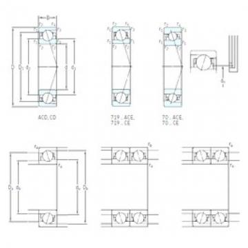 10 mm x 26 mm x 8 mm  SKF 7000 CD/HCP4A angular contact ball bearings