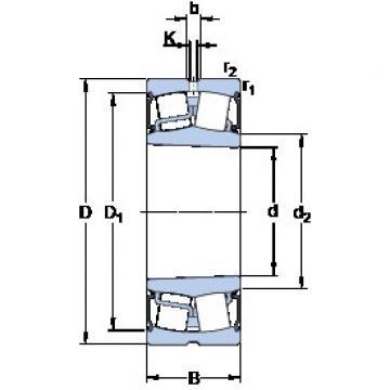 90 mm x 160 mm x 48 mm  SKF BS2-2218-2RSK/VT143 spherical roller bearings