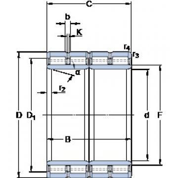 560 mm x 820 mm x 600 mm  SKF BC4B 322930/HA4 cylindrical roller bearings
