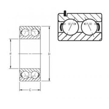 60 mm x 110 mm x 36,53 mm  Timken 5212WG angular contact ball bearings