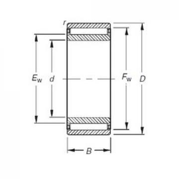 15 mm x 28 mm x 26 mm  Timken NAO15X28X26 needle roller bearings