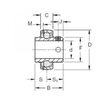 66,675 mm x 125 mm x 69,85 mm  Timken GY1210KRRB deep groove ball bearings