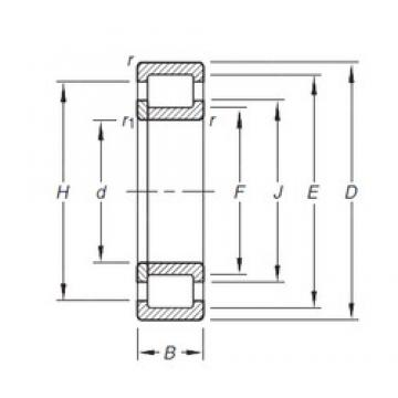 20 mm x 47 mm x 18 mm  Timken NUP2204E.TVP cylindrical roller bearings