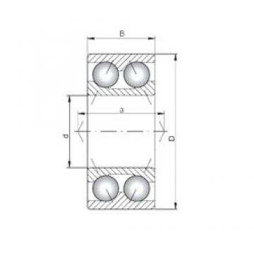 ISO 3202 angular contact ball bearings