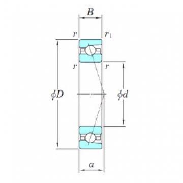35 mm x 55 mm x 10 mm  KOYO 3NCHAC907C angular contact ball bearings
