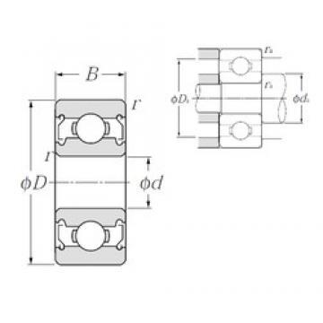 5 mm x 19 mm x 6 mm  NTN 635ZZ deep groove ball bearings