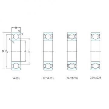 25 mm x 52 mm x 15 mm  SKF 6205-2Z/VA201 deep groove ball bearings
