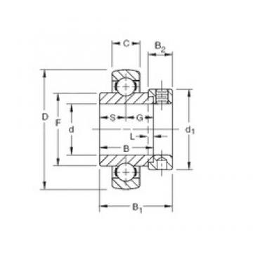 42,8625 mm x 100 mm x 42,86 mm  Timken SMN111KB deep groove ball bearings
