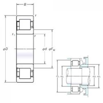 150 mm x 270 mm x 45 mm  NSK NJ230EM cylindrical roller bearings