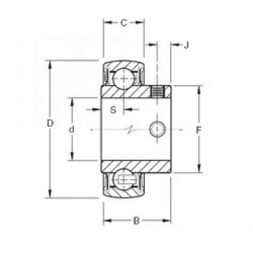30 mm x 62 mm x 32,5 mm  Timken YAE30RRB deep groove ball bearings