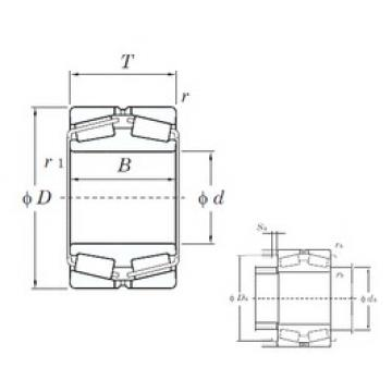 260 mm x 400 mm x 104 mm  KOYO 45252 tapered roller bearings